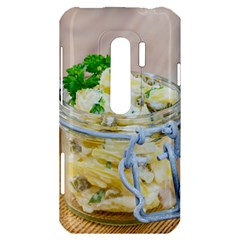 Potato salad in a jar on wooden HTC Evo 3D Hardshell Case