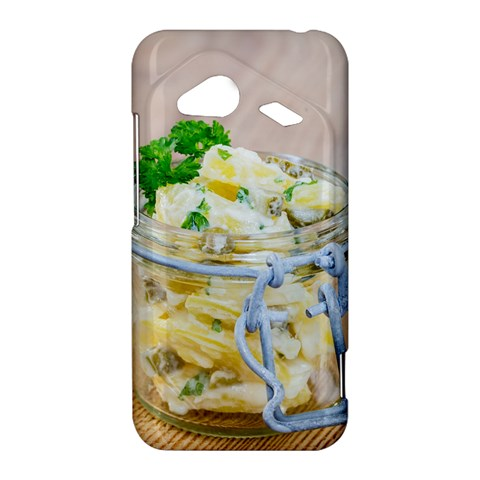Potato salad in a jar on wooden HTC Droid Incredible 4G LTE Hardshell Case