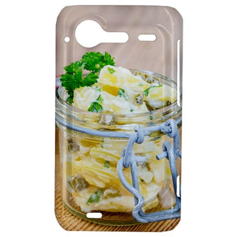 Potato salad in a jar on wooden HTC Incredible S Hardshell Case