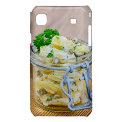 Potato salad in a jar on wooden Samsung Galaxy S i9008 Hardshell Case