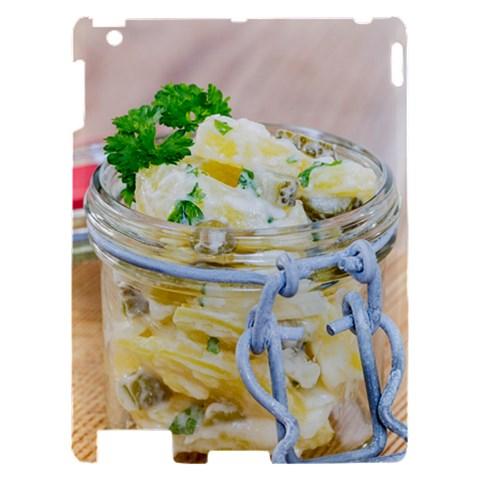 Potato salad in a jar on wooden Apple iPad 2 Hardshell Case