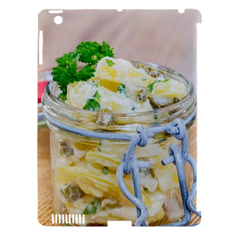 Potato salad in a jar on wooden Apple iPad 3/4 Hardshell Case (Compatible with Smart Cover)