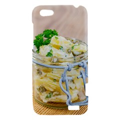 Potato salad in a jar on wooden HTC One V Hardshell Case