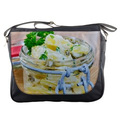 Potato Salad In A Jar On Wooden Messenger Bags