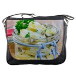 Potato salad in a jar on wooden Messenger Bags Front