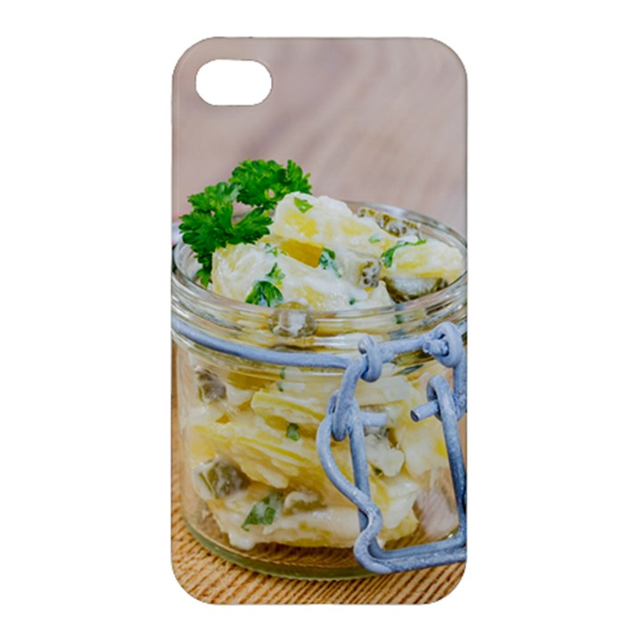 Potato salad in a jar on wooden Apple iPhone 4/4S Premium Hardshell Case