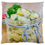 Potato salad in a jar on wooden Large Cushion Case (One Side) Front