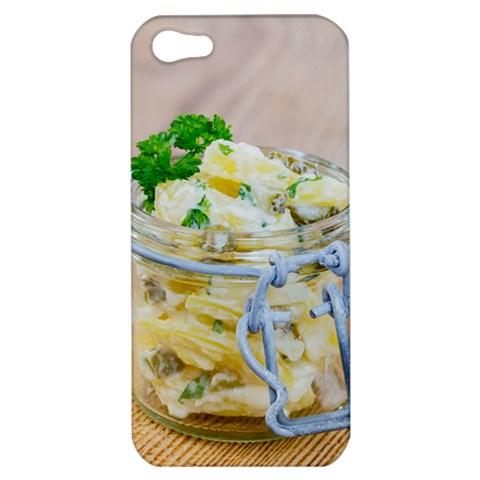 Potato salad in a jar on wooden Apple iPhone 5 Hardshell Case