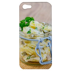 Potato salad in a jar on wooden Apple iPhone 5 Hardshell Case