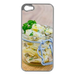 Potato salad in a jar on wooden Apple iPhone 5 Case (Silver)