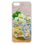 Potato salad in a jar on wooden Apple iPhone 5 Seamless Case (White) Front