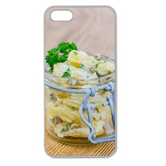 Potato Salad In A Jar On Wooden Apple Seamless Iphone 5 Case (clear)