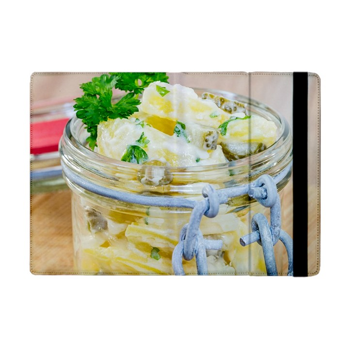 Potato salad in a jar on wooden Apple iPad Mini Flip Case