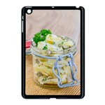 Potato salad in a jar on wooden Apple iPad Mini Case (Black) Front