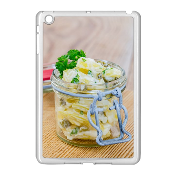 Potato salad in a jar on wooden Apple iPad Mini Case (White)