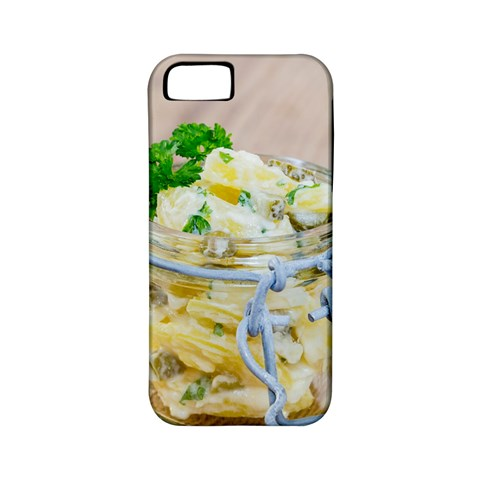 Potato salad in a jar on wooden Apple iPhone 5 Classic Hardshell Case (PC+Silicone)