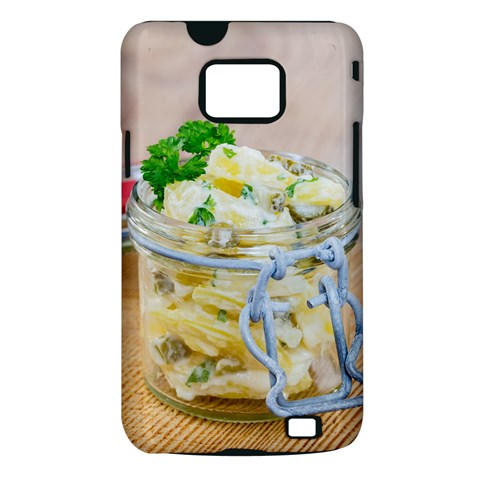 Potato salad in a jar on wooden Samsung Galaxy S II i9100 Hardshell Case (PC+Silicone)