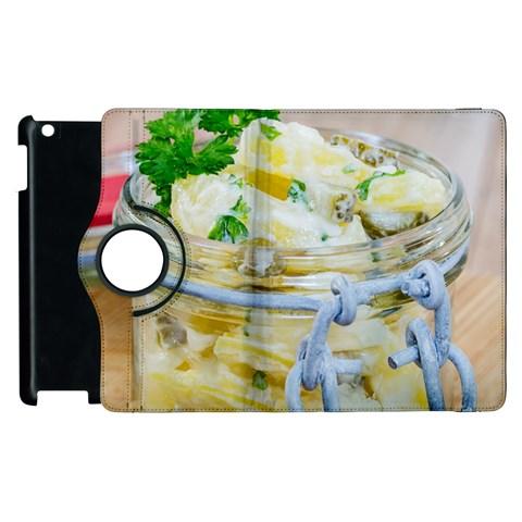 Potato salad in a jar on wooden Apple iPad 2 Flip 360 Case