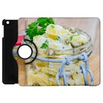 Potato salad in a jar on wooden Apple iPad Mini Flip 360 Case Front