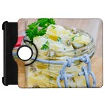 Potato salad in a jar on wooden Kindle Fire HD Flip 360 Case Front