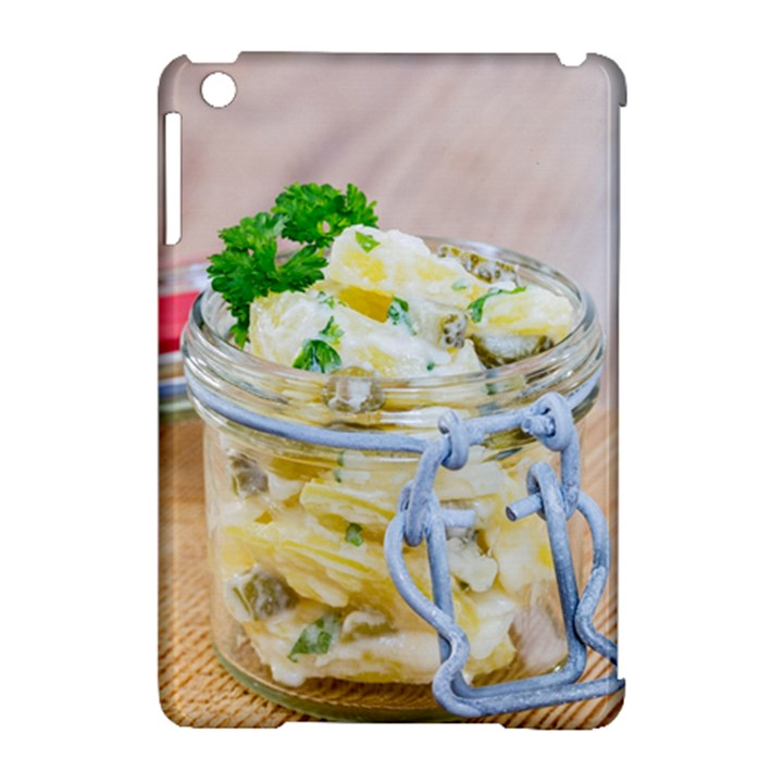 Potato salad in a jar on wooden Apple iPad Mini Hardshell Case (Compatible with Smart Cover)
