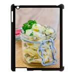 Potato salad in a jar on wooden Apple iPad 3/4 Case (Black) Front