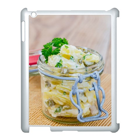 Potato salad in a jar on wooden Apple iPad 3/4 Case (White)
