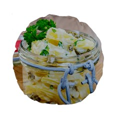 Potato Salad In A Jar On Wooden Standard 15  Premium Round Cushions