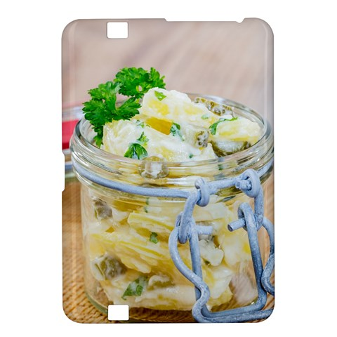 Potato salad in a jar on wooden Kindle Fire HD 8.9