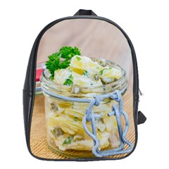 Potato Salad In A Jar On Wooden School Bags (xl)