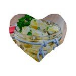 Potato salad in a jar on wooden Standard 16  Premium Heart Shape Cushions Front