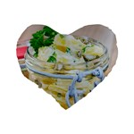 Potato salad in a jar on wooden Standard 16  Premium Heart Shape Cushions Back