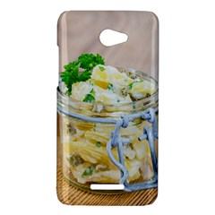 Potato salad in a jar on wooden HTC Butterfly X920E Hardshell Case