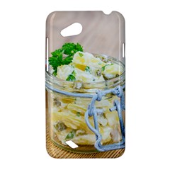 Potato salad in a jar on wooden HTC Desire VC (T328D) Hardshell Case