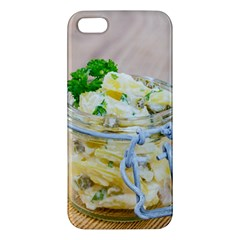 Potato Salad In A Jar On Wooden Apple Iphone 5 Premium Hardshell Case