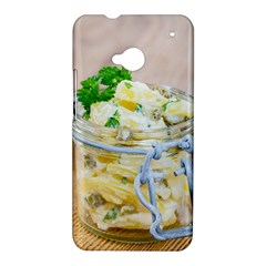 Potato salad in a jar on wooden HTC One M7 Hardshell Case