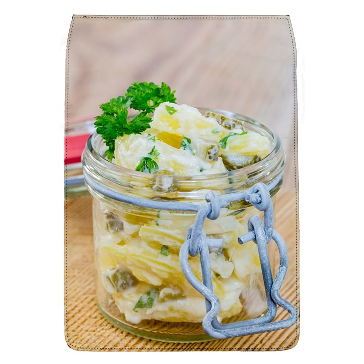 Potato salad in a jar on wooden Flap Covers (L)