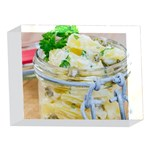 Potato salad in a jar on wooden 5 x 7  Acrylic Photo Blocks Front
