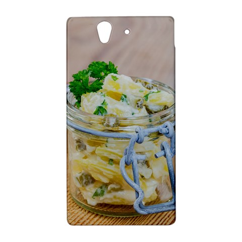 Potato salad in a jar on wooden Sony Xperia Z