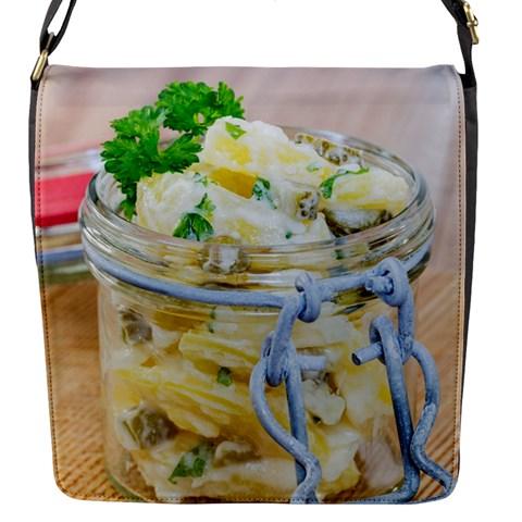 Potato salad in a jar on wooden Flap Messenger Bag (S)