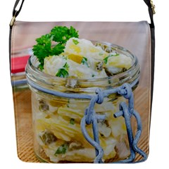 Potato Salad In A Jar On Wooden Flap Messenger Bag (s)