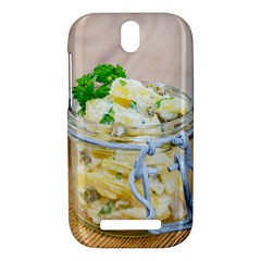 Potato salad in a jar on wooden HTC One SV Hardshell Case