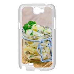 Potato salad in a jar on wooden Samsung Galaxy Note 2 Case (White)