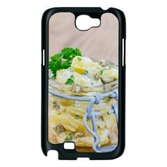 Potato salad in a jar on wooden Samsung Galaxy Note 2 Case (Black)