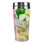 Potato salad in a jar on wooden Stainless Steel Travel Tumblers Left