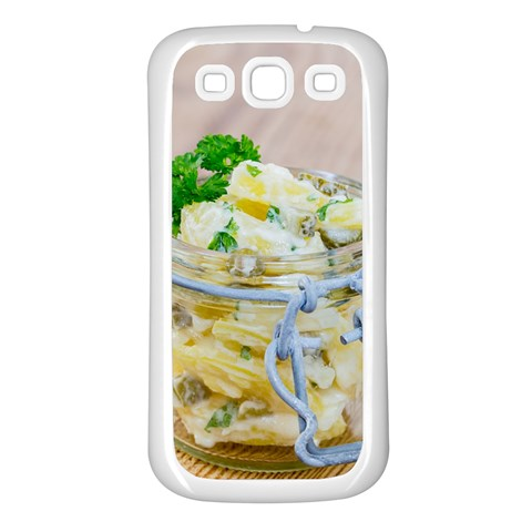 Potato salad in a jar on wooden Samsung Galaxy S3 Back Case (White)