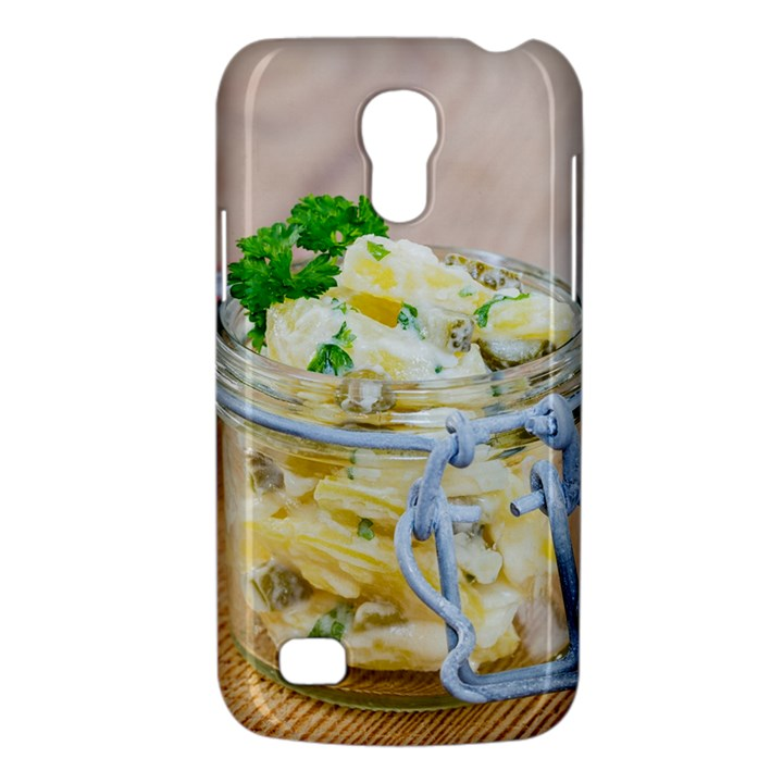 Potato salad in a jar on wooden Galaxy S4 Mini