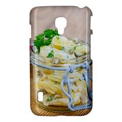 Potato salad in a jar on wooden LG Optimus L7 II