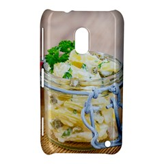 Potato Salad In A Jar On Wooden Nokia Lumia 620