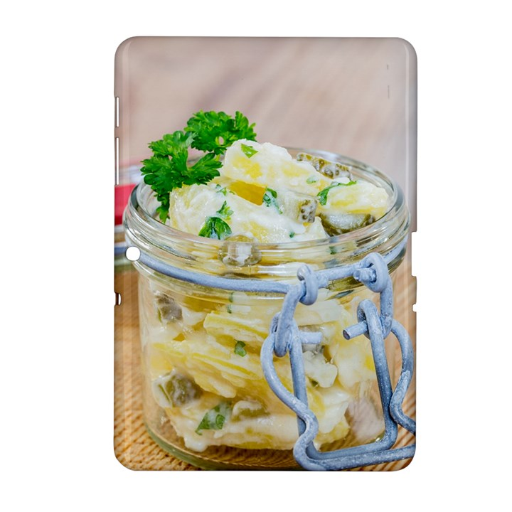 Potato salad in a jar on wooden Samsung Galaxy Tab 2 (10.1 ) P5100 Hardshell Case